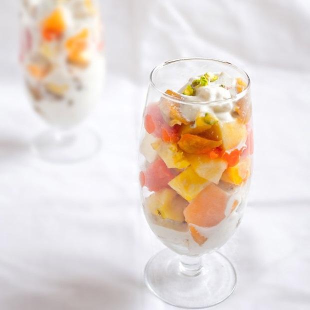 fruit salad recipe with cashew cream