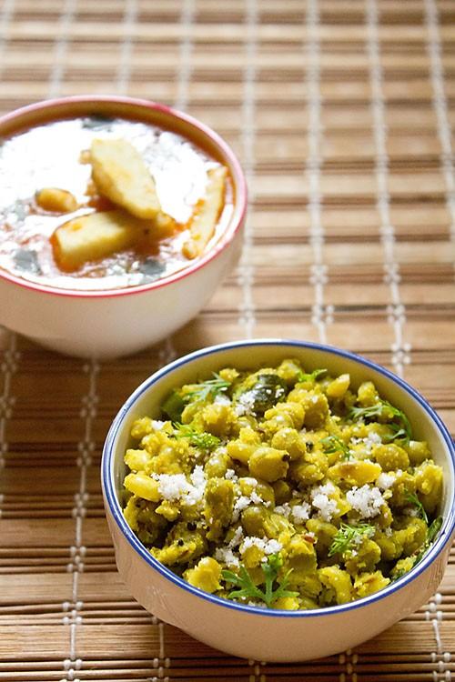 green peas sundal recipe, how to make pattani sundal recipe