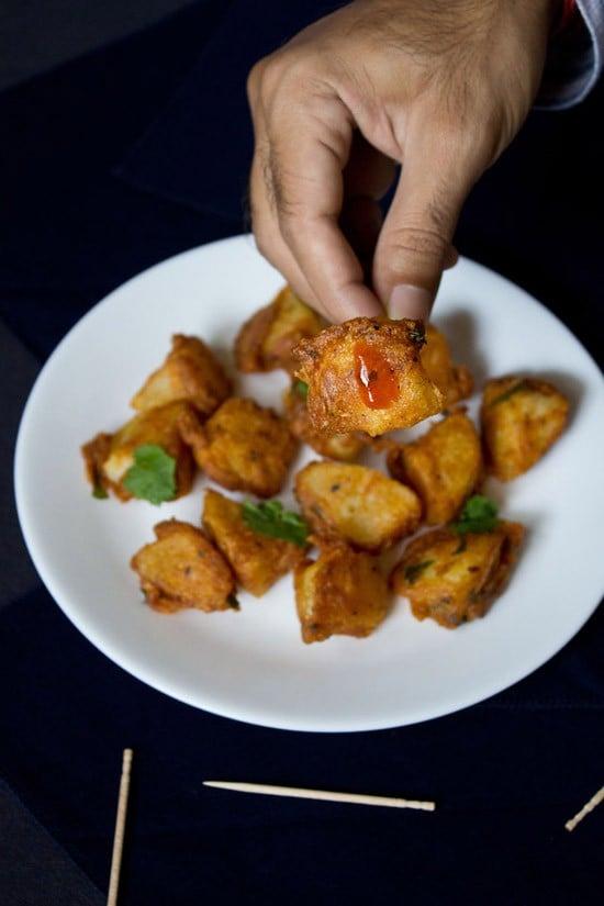 potato 65 recipe, aloo 65 recipe