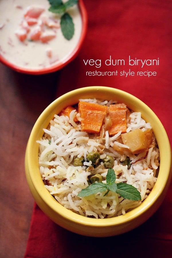 vegetable biryani recipe restaurant style