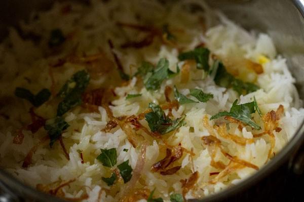 making veg dum biryani recipe