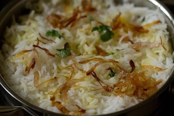 making veg biryani recipe