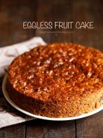 eggless christmas fruit cake recipe, how to make christmas fruit cake recipe