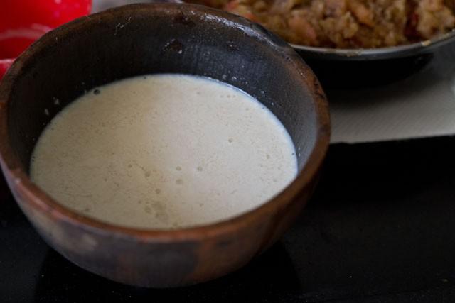 milk for eggless fruit cake recipe