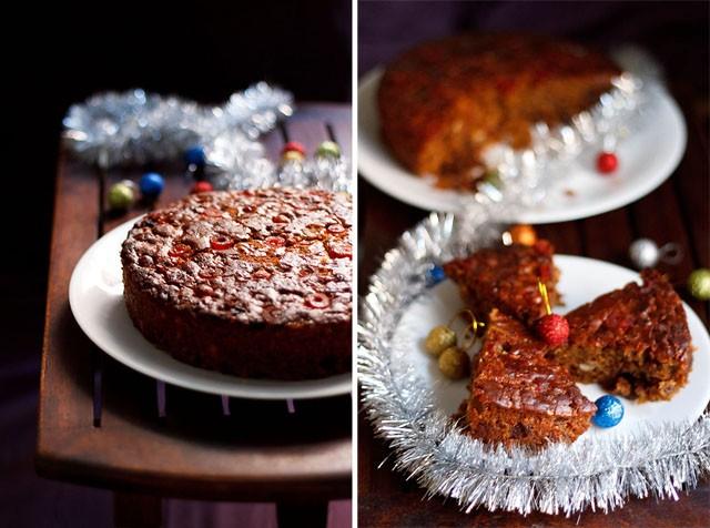 eggless christmas rum cake recipe