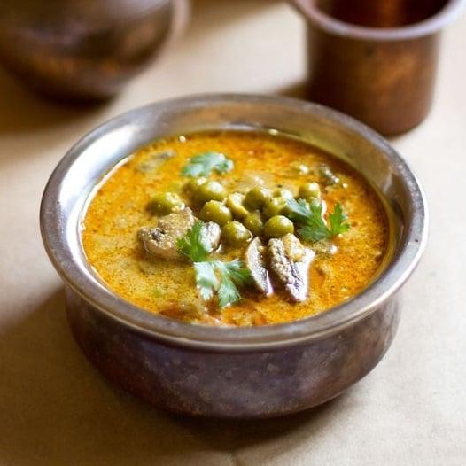 mushroom and peas curry recipe, mushroom curry recipe