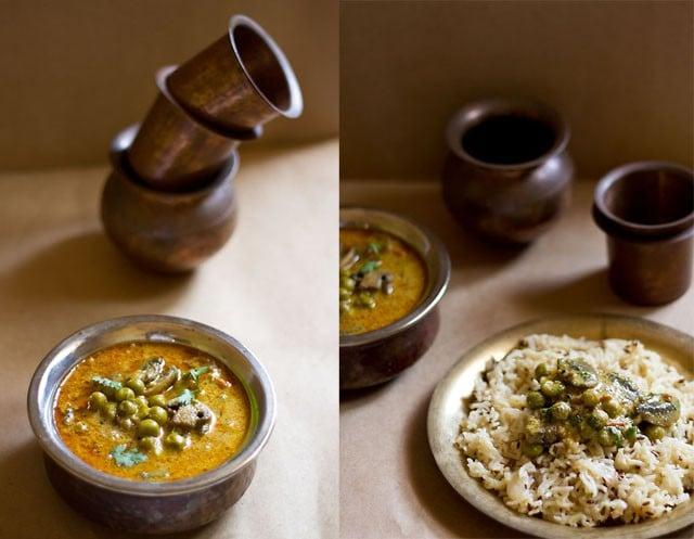 mushroom peas curry recipe