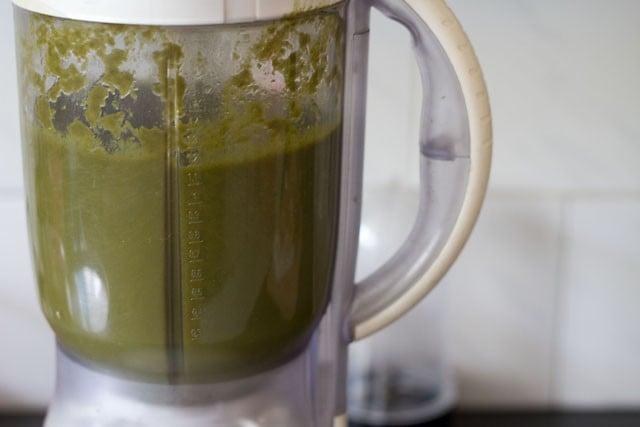 Blend the greens mixture till smooth