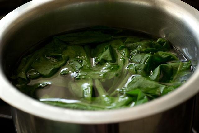 spinach for hara bhara kabab recipe