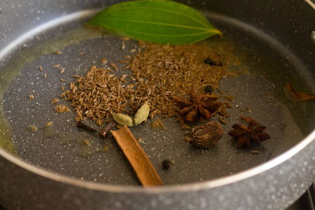 spices for making easy jeera rice recipe