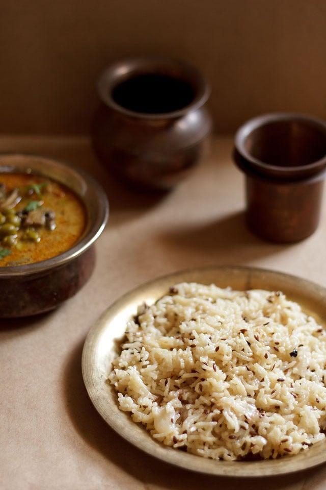 jeera rice recipe, how to make jeera rice recipe | indian cumin rice recipe