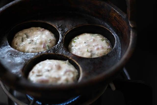 paniyaram batter added to appe pan