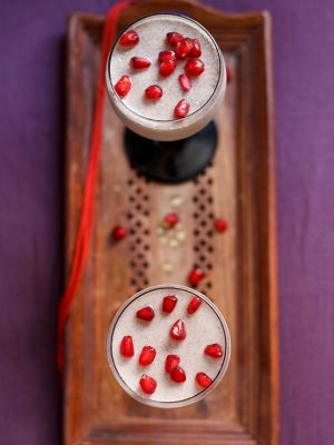 pomegranate vanilla mousse
