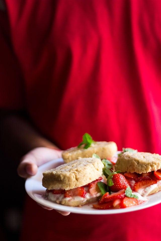 eggless strawberry shortcake recipe, vegan strawberry shortcake