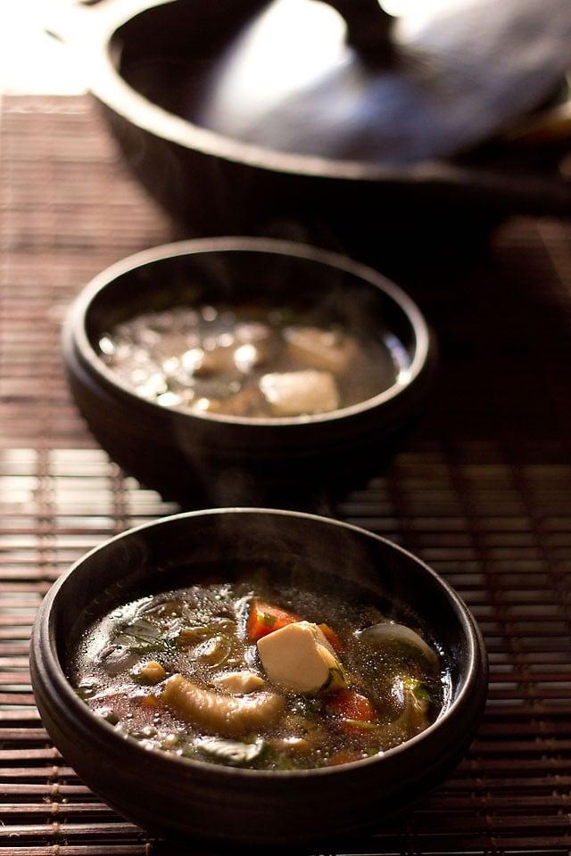 thai veg tofu soup recipe, how to make thai veg tofu soup recipe