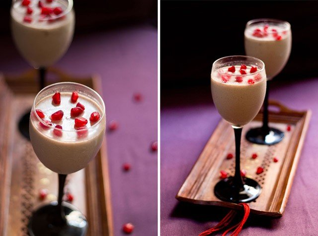 vegan pomegranate mousse