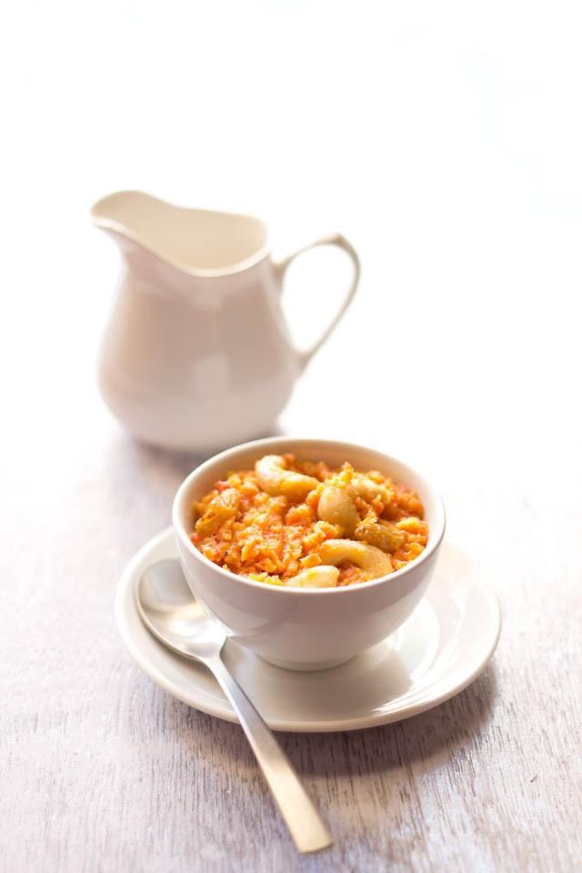 Vegan Carrot Halwa, Vegan Carrot Pudding
