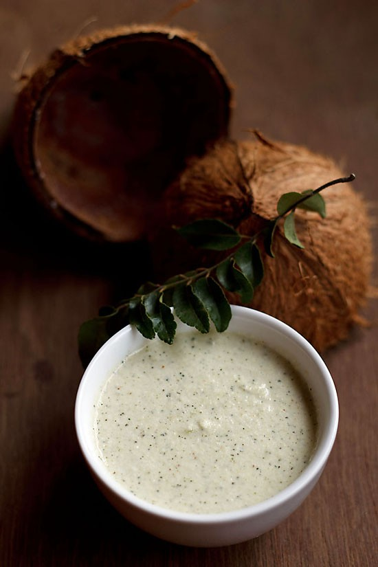 hotel style coconut chutney recipe, quick coconut chutney recipe