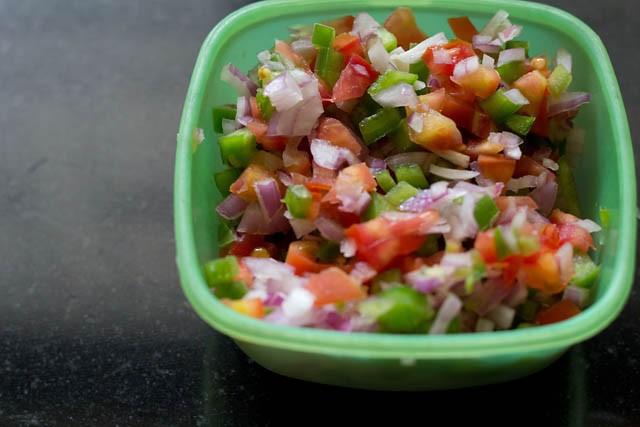 veggies for mysore masala dosa recipe