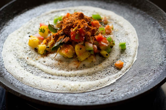 preparing mysore masala dosa recipe
