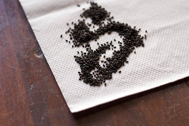 soak the basil seeds in enough water for 30 minutes