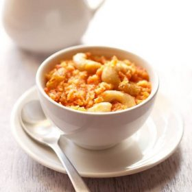 vegan carrot halwa recipe, gajar halwa recipe