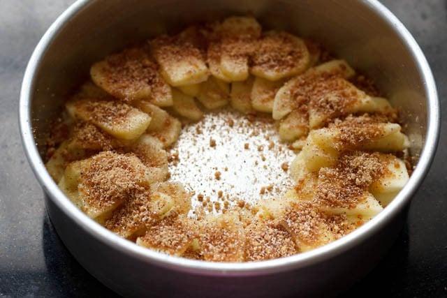 making eggless apple cake recipe