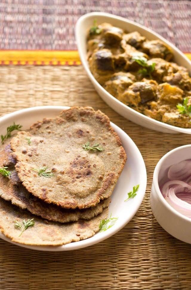 bajra roti recipe, how to make bajra rotis recipe | bajra bhakri recipe