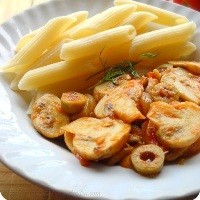 penne-with-tomatoes-and-mushroom