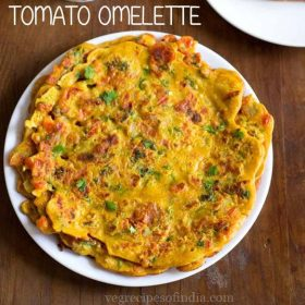 eggless tomato omelette recipe, veg omelette recipe