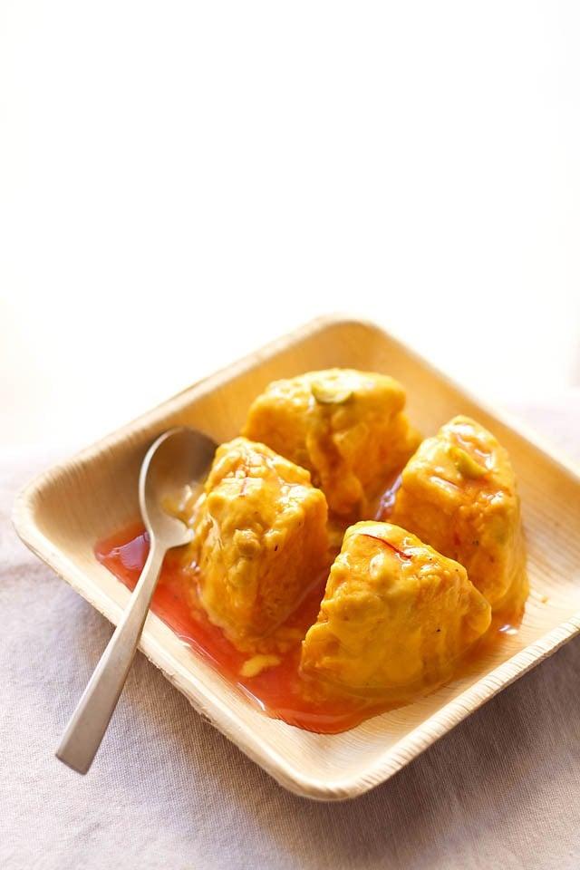 mango kulfi recipe, how to make mango kulfi recipe | mango recipes