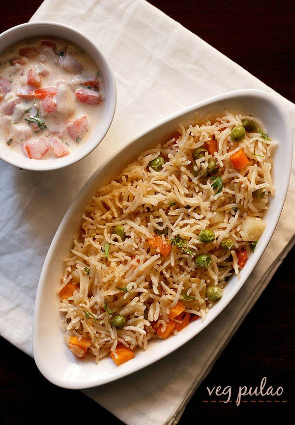veg pulao recipe, vegetable pulao recipe, veg pilaf