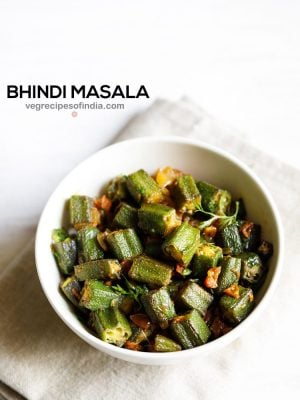 bhindi masala recipe, how to make bhindi masala | bhindi recipe