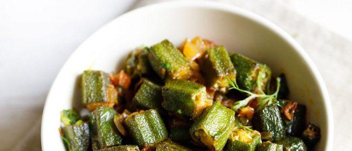 bhindi masala recipe, how to make bhindi masala | bhindi recipe