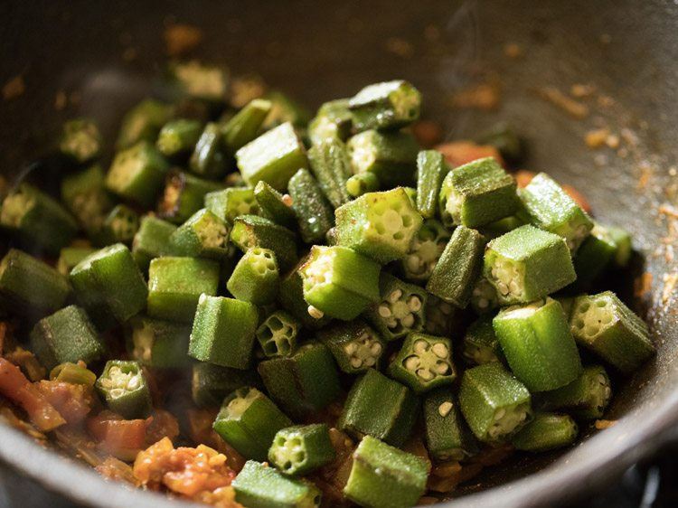 okra for making bhindi masala recipe