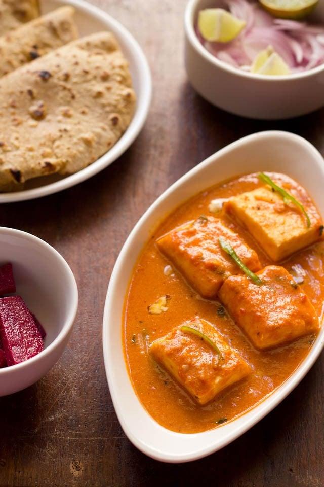 paneer butter masala dish
