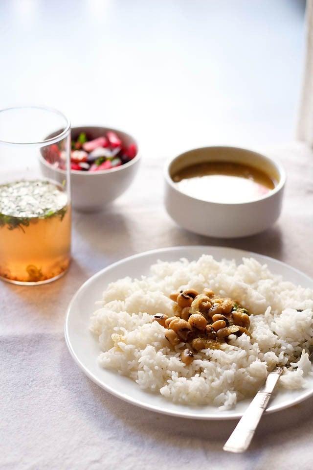 chawli usal recipe, how to make chawli usal | maharashtrian usal