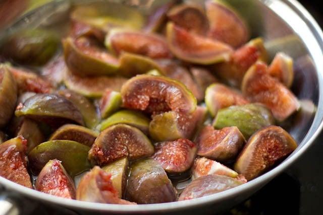 chopped figs in a pan