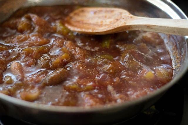 stirring the fig jam