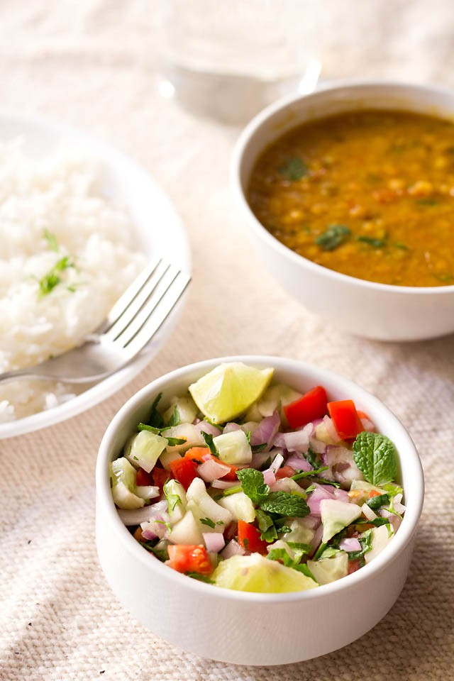 kachumber salad or kuchumber salad recipe – indian vegetable salad