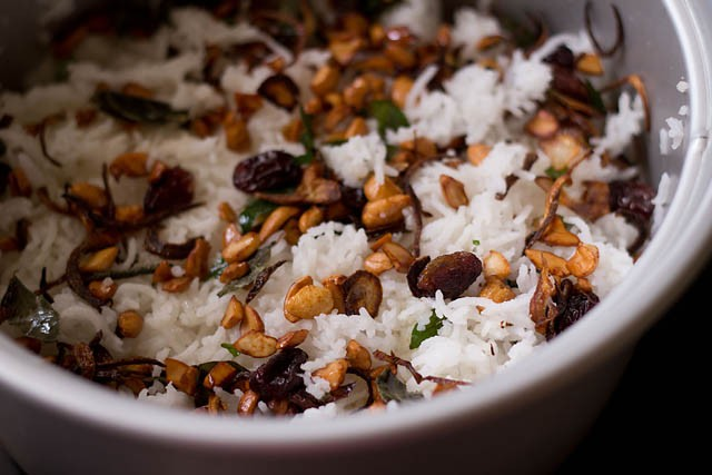 cooked rice for vegetable biryani recipe