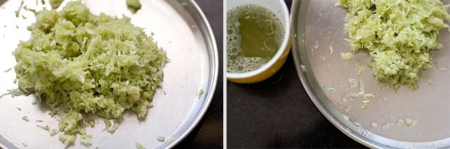 grate lauki for lauki kofta recipe