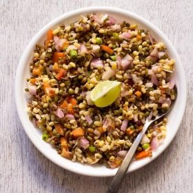 sprouts salad, moong sprouts salad