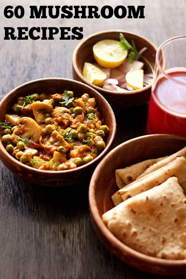 mushroom recipes, mushroom curry recipes, indian mushroom recipes