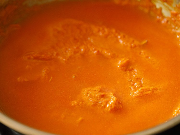 making paneer butter masala