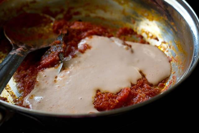cashew paste for paneer masala