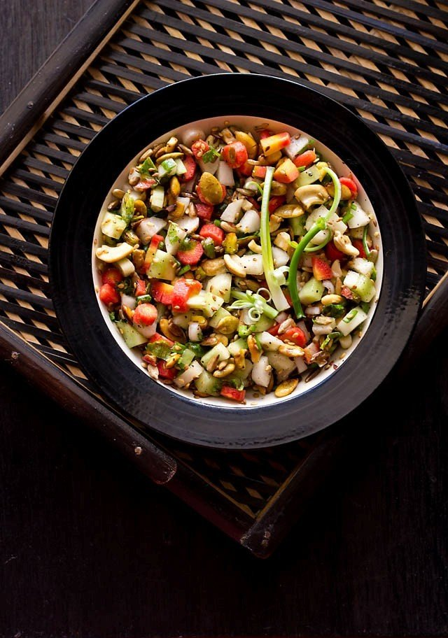 veg salad with nuts recipe
