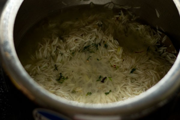 making biryani rice recipe