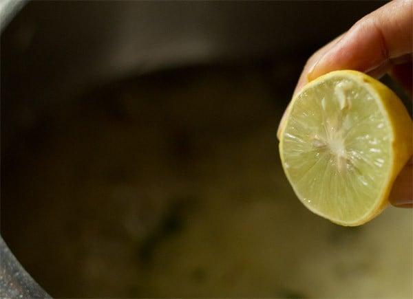 adding lemon juice