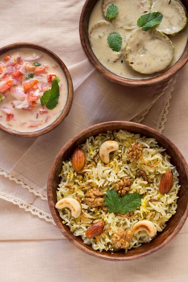 kashmiri pulao recipe, how to make kashmiri pulao | easy pulao recipe